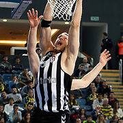 Besiktas's Fedor LIKHOLITOV during their Turkish Basketball league derby match  Fenerbahce Ulker between Besiktas at Sinan Erdem Arena in Istanbul, Turkey, Saturday, March 12, 2011. Photo by TURKPIX