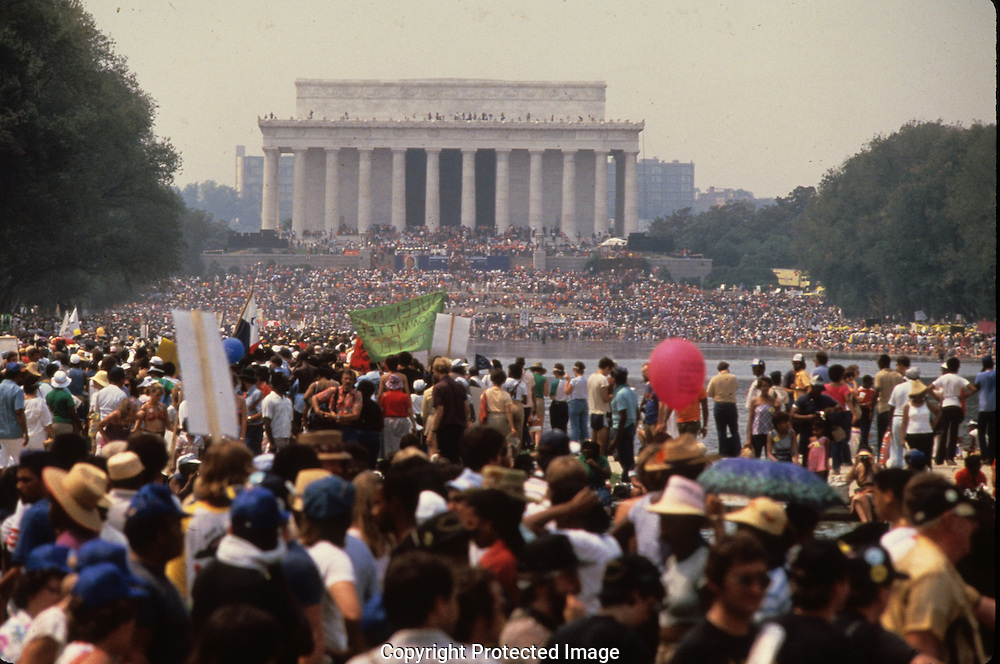 the March on Washington in August 27, 1983--the twentieth anniversary of the March on Washington in 1963...Photograph by Dennis Brack bb23