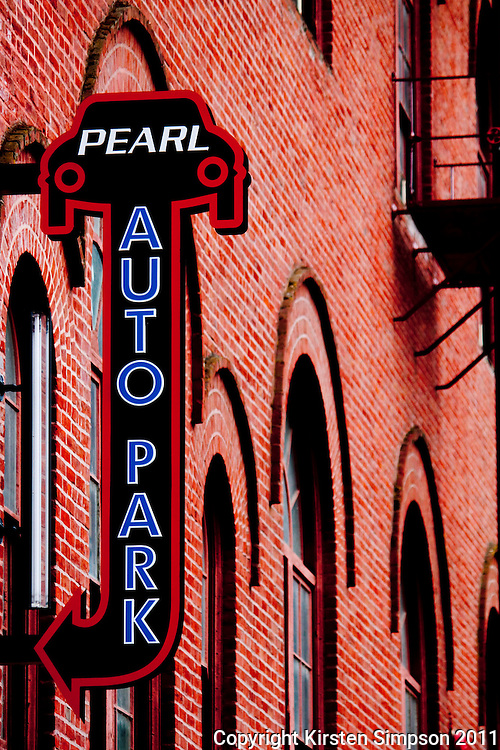 The streets of the Pearl District in Portland