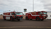 Airport fire trucks at Warbirds Over the West.