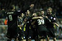Football - Championship - Leeds United vs. Cardiff City <br /> Cardiff's Lee Naylor celebrates his goal with team mates at Elland Road
