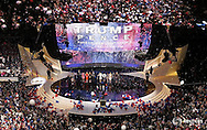 U.S. Republican Presidential Nominee Donald Trump and his family are joined by Vice-Presidential Nominee Indiana Governor Mike Pence and his family on stage at the Republican National Convention in Cleveland, Ohio, U.S. July 21, 2016.  REUTERS/Rick Wilking   - RTSJ4SN