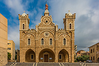 saint stephen cathedral Batroun in Lebanon Middle east