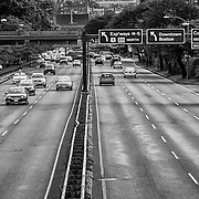 Saturday morning traffic on Storrow Drive in Boston