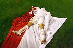 Rafael Sobis comemora o título da Copa Libertadores da América 2006  após empatar com o São Paulo (SP) na segunda partida da final que foi realizada no Estádio Beira Rio, em Porto Alegre. FOTO: Jefferson Bernardes/Preview.com