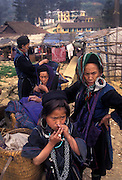 Hmong tribeswomen and children, Sa Pa