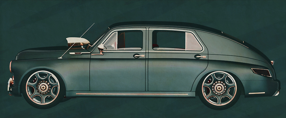 The 1946 GAZ M20V is a classic car from Russia that is not so well known here. That is why this painting of a 1946 GAZ M20V is so suitable to give your shop, showroom or room an extra dimension because the e 1946 GAZ M20V will attract attention and bring peace of mind to customers who want something different.<br /> <br /> This painting of a GAZ M20V from 1946 can be printed very large on different materials. The work has a panoramic ratio and is very suitable to add a detail in a workspace, showroom or just at home that will impress your visitors. –<br /> <br /> BUY THIS PRINT AT<br /> <br /> FINE ART AMERICA<br /> ENGLISH<br /> https://janke.pixels.com/featured/the-1946-gaz-m20v-from-russia-with-its-strange-nostalgia-jan-keteleer.html<br /> <br /> WADM / OH MY PRINTS<br /> DUTCH / FRENCH / GERMAN<br /> https://www.werkaandemuur.nl/nl/shopwerk/GAZ-M20V-1946/606107/132<br /> <br /> -