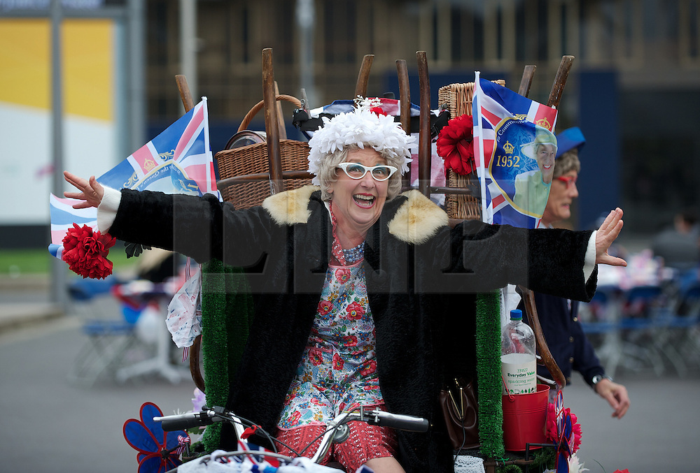 © Licensed to London News Pictures. 03/06/12.Middlesbrough, England...A party to celebrate the Queen's Diamond Jubilee takes place in Middlesbrough town centre in Cleveland.. .The Royal Jubilee celebrations. Great Britain is celebrating the 60th  anniversary of the countries Monarch HRH Queen Elizabeth II accession to the throne this weekend Photo credit : Ian Forsyth/LNP