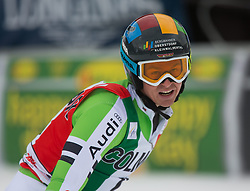 22.12.2013, Gran Risa, Alta Badia, ITA, FIS Ski Weltcup, Alta Badia, Riesenslalom, Herren, 2. Durchgang, im Bild Stefan Luitz (GER) // Stefan Luitz of Germany reacts in the finish Area during 2nd run of mens Giant Slalom of the Alta Badia FIS Ski Alpine World Cup at the Gran Risa Course in Alta Badia, Italy on 2012/12/22. EXPA Pictures © 2013, PhotoCredit: EXPA/ Johann Groder