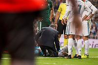 Real Madrid's Carlos Henrique Casemiro and Real Betis's Antonio Adan during La Liga match between Real Madrid and Real Betis at Santiago Bernabeu Stadium in Madrid, Spain September 20, 2017. (ALTERPHOTOS/Borja B.Hojas)