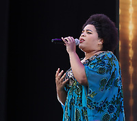 Dreamgirls performing at westend live trafalgar square london photo by Roger Alacron