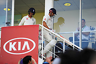 Alastair Cook of England walks out to bat for his final test match innings before his international retirement during day 3 of the 5th test match of the International Test Match 2018 match between England and India at the Oval, London, United Kingdom on 9 September 2018.