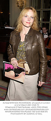 Actress MIRANDA RICHARDSON  at a party in London on 21st March 2001.OMK 70