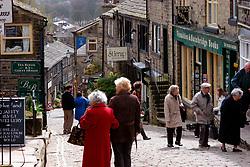 Howarth village; home of Bronte sisters; West Yorkshire UK