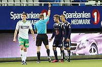 Fotball <br /> Adeccoligaen<br /> Briskeby Gressbane <br /> 06.109.13<br /> HamKam  v Kristiansund 2-1<br /> Foto: Dagfinn Limoseth, Digitalsport<br /> Gult kort til Mahmoud El Haj , Kristiansund