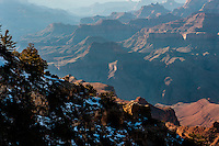 United States, Arizona, Grand Canyon. View from Navajo Point, close to Desert View.