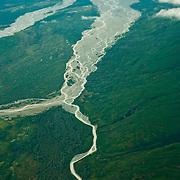 Braided stream deep within Katmai National Park, Alaska.