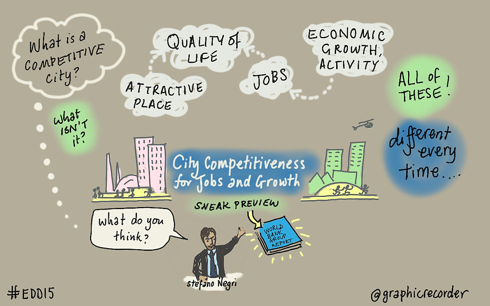 04 June 2015 - Belgium - Brussels - European Development Days - EDD - Jobs - Supporting public policies and investments that promote sector-level competitiveness and innovation - The case of competitive cities © European Union