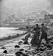 Fishermen hauling in their nets, Sausalito waterfront