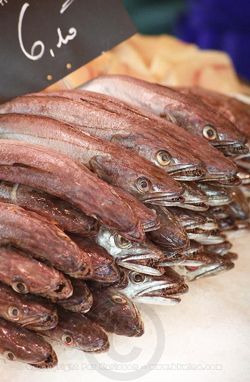 On Quai des Chartrons. A street market. Ugly fish. On Les Quais. Bordeaux city, Aquitaine, Gironde, France