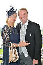 PHIL TUFNELL and his wife DAWN at the Investec Derby at Epsom Racecourse, Epsom, Surrey on 4th June 2016.
