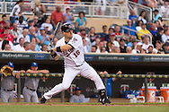 Josh Willingham #16 of the Minnesota Twins bats against the Kansas City Royals on June 27, 2013 at Target Field in Minneapolis, Minnesota.  The Twins defeated the Royals 3 to 1.  Photo by Ben Krause