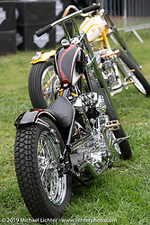 BF11 Invited builder Majik Mike Rabideau's custom S&S Knuckle at the Born Free set-up day before the big show. Oak Canyon Ranch, Silverado, CA, USA. Friday, June 21, 2019. Photography ©2019 Michael Lichter.
