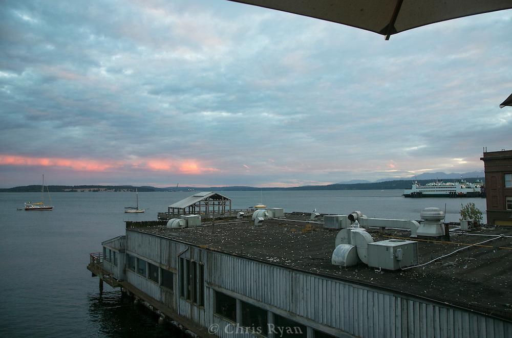 Dusk skyscape, Port Townsend, Washington