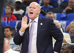 October 17, 2018 - Orlando, FL, USA - Orlando Magic head coach Steve Clifford yells during the first half against the Miami Heat at the Amway Center in Orlando, Fla., on Wednesday, Oct. 17, 2018. (Credit Image: © Stephen M. Dowell/Orlando Sentinel/TNS via ZUMA Wire)