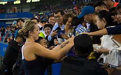 September 26, 2018 - Anastasia Pavlyuchenkova of Russia celebrates winning her third-round match at the 2018 Dongfeng Motor Wuhan Open WTA Premier 5 tennis tournament (Credit Image: © AFP7 via ZUMA Wire)