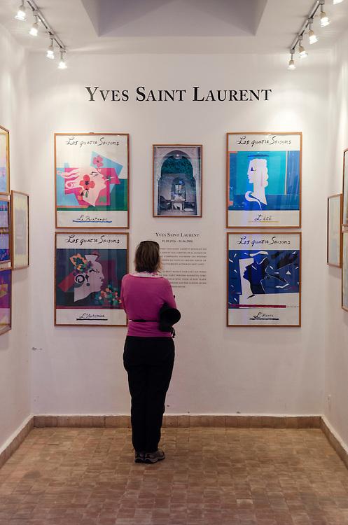 A picture exhibition Jardin Majorelle Marrakech Morocco