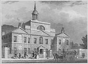 City of London Lying-In hospital, engraving 'Metropolitan Improvements, or London in the Nineteenth Century' London, England, UK 1828 , drawn by Thomas H Shepherd