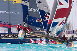 June 21, 2017 - Bermudes, USA - The Great Sound, Bermuda, 20th June 2017, Red Bull Youth America's Cup Finals. Race two, Land Rover BAR Academy and NZL Sailing Team. (Credit Image: © Panoramic via ZUMA Press)