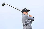 Padraig O'Dochartaigh (Gweedore) on the 1st tee during Round 2 of the Connacht U16 Boys Amateur Open Championship at Galway Bay Golf Club, Oranmore, Galway on Wednesday 17th April 2019.<br /> Picture:  Thos Caffrey / www.golffile.ie
