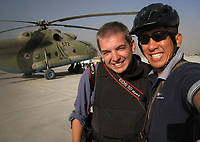 Jack Gruber with Anthony Bolante in Afghanistan during 2009 Afghan Presidential Elections