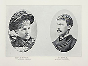 """Mr. and Mrs. U. S. GRANT, JR., Second son of General Grant from The American Civil War book and Grant album : """"art immortelles"""" : a portfolio of half-tone reproductions from rare and costly photographs designed to perpetuate the memory of General Ulysses S. Grant, depicting scenes and incidents in connection with the Civil War Published  in Boston and New York by W. H. Allen in 1894"""