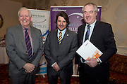 31/01/2014 REPRO free.<br /> From Left CforC Chief Executive Bob Barbour, Matt Fisher, EFQM,   and  Dr Tony Lenehan, Fáilte Ireland at Galway Bay Hotel for 2013 EFQM IRELAND EXCELLENCE AWARDS AT EUROPEAN EXCELLENCE .<br /> <br /> Levels of recognition include: Ireland Excellence Award, Excellence 5 Star Award, Excellence 4 Star Award, STEPS to Excellence, and Gold Star Service Excellence. The Awards are not an end in themselves but a means of assessing and recognising role model organisations against the most rigorous international quality standards while encouraging management and staff to continue their excellence journey to the next level.www.cforc.org .<br /> Photo:Andrew Downes