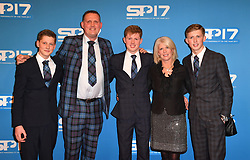 Former Scotland rugby union player Doddie Weir (second left) during the red carpet arrivals for BBC Sports Personality of the Year 2017 at the Liverpool Echo Arena.