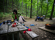 First night of camping in Pennsylvania