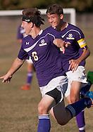 Warwick plays Goshen in a boys' soccer game on Sept. 12, 2014. Warwick won 2-1.