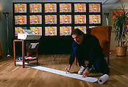 Peter Max, a multi-media artist in his New York City loft faxing art when faxes first became popular.