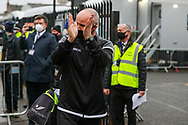 Marine defender David Raven (6) arrives during the The FA Cup match between Marine and Tottenham Hotspur at Marine Travel Arena, Great Crosby, United Kingdom on 10 January 2021.