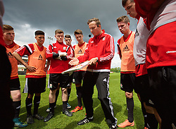 NEWPORT, WALES - Sunday, May 22, 2016: Liverpool's first-team development coach Pepijn Lijnders during the Football Association of Wales' National Coaches Conference 2016 at Dragon Park FAW National Development Centre. (Pic by David Rawcliffe/Propaganda)