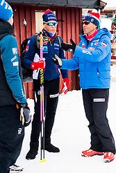 April 6, 2018 - Alta, NORWAY - 180406 Johannes HÂ¿sflot Kl¾bo and Arild Monsen, coach, after the Men's 10 km Classic during the Norwegian Championship on April 6, 2018 in Alta..Photo: Jon Olav Nesvold / BILDBYRN / kod JE / 160236 (Credit Image: © Jon Olav Nesvold/Bildbyran via ZUMA Press)