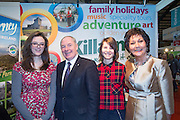 NO FEE PICTURES<br /> 23/1/16 Minister for Tourism Michael Ring and Maureen Ledwith, organiser of the Holiday World Show at the Killarney Tourism stand at the Holiday World Show at the RDS in Dublin. Picture: Arthur Carron