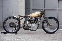 PDF Motociclette's (Punto Di Fuga) custom 1927 Harley-Davidson JD Racer 1000cc that was on display at Motor Bike Expo. Verona, Italy. January 24, 2016.  Photography ©2016 Michael Lichter.