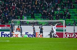 November 8, 2018 - Budapest, Hungary - The Goal (1-0) during the UEFA Europa League Group L match between MOL Vidi FC and FC PAOK at Groupama stadium on Nov 08, 2018 in Budapest, Hungary. (Credit Image: © Robert Szaniszlo/NurPhoto via ZUMA Press)