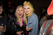 MAYA  HIRST; PAM HOGG, Sarah Lucas- Scream Daddio party hosted by Sadie Coles HQ and Gladstone Gallery at Palazzo Zeno. Venice. 6 May 2015.