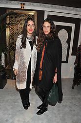 Left to right, DANA ALIKHANI and TATIANA SANTO DOMINGO at the Inspiring Morocco launch held at Harrods, Knightsbridge, London on 3rd November 2011.