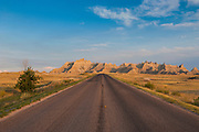 Road through the Badlands National Park, South Dakota, USA